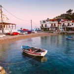 Boot auf Meer, Samos Insel
