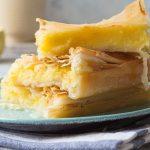 Filoteig mit Sirup und Pudding